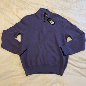 Ralph Lauren Polo Pima Cotton Sweater, Purple,  LG